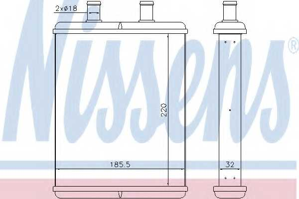 Радиатор отопления салона NISSENS 71817 - изображение