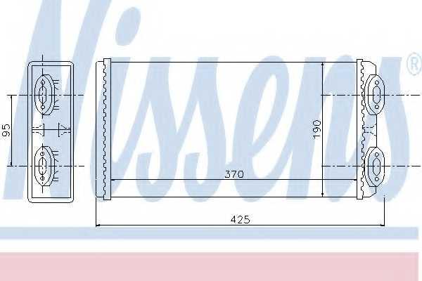 Радиатор отопления салона NISSENS 71925 - изображение