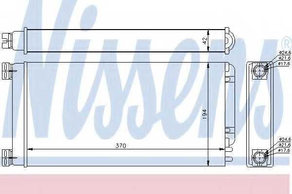 Радиатор отопления салона NISSENS 71926 - изображение