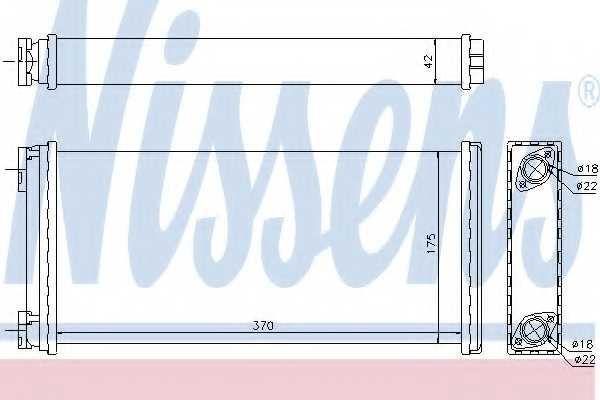 Радиатор отопления салона NISSENS 71927 - изображение