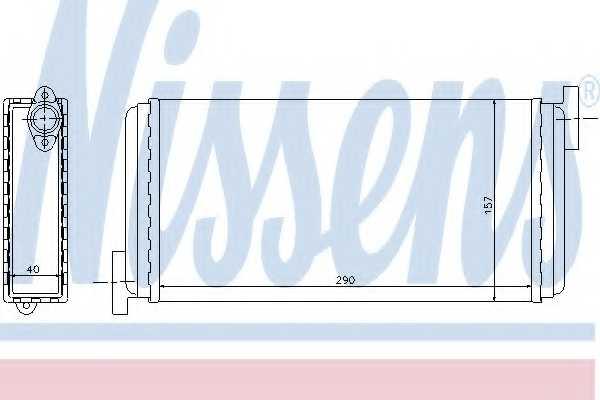 Радиатор отопления салона NISSENS 72002 - изображение