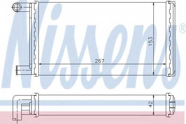 Радиатор отопления салона NISSENS 72004 - изображение