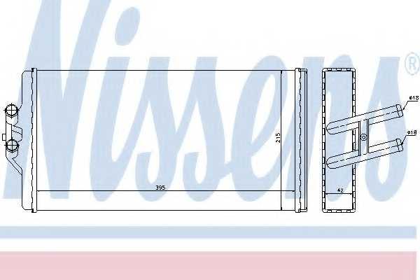 Радиатор отопления салона NISSENS 72005 - изображение