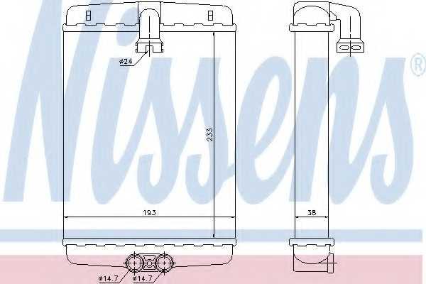 Радиатор отопления салона NISSENS 72013 - изображение