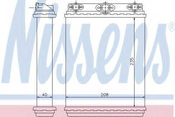 Радиатор отопления салона NISSENS 72016 - изображение