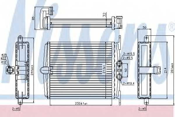 Радиатор отопления салона NISSENS 72019 - изображение
