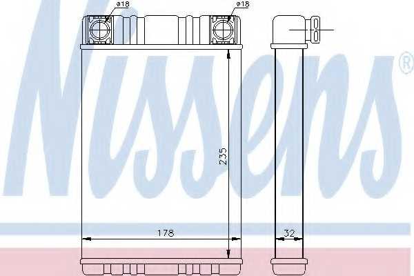 Радиатор отопления салона NISSENS 72028 - изображение