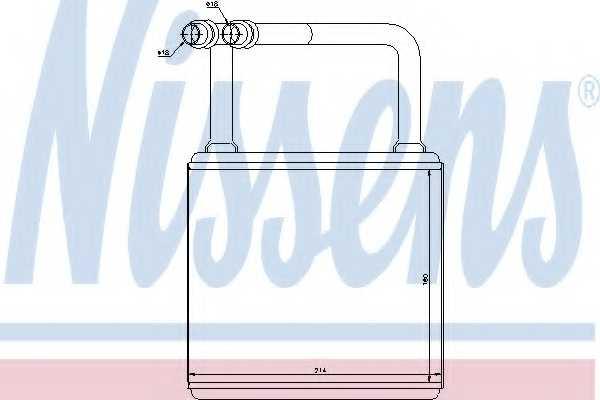 Радиатор отопления салона NISSENS 72029 - изображение