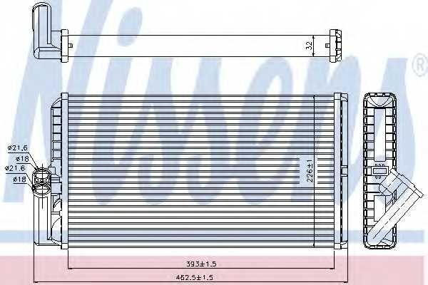Радиатор отопления салона NISSENS 72034 - изображение