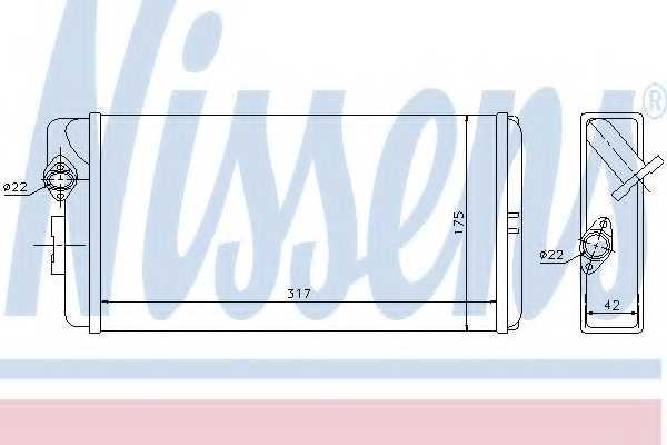 Радиатор отопления салона NISSENS 72035 - изображение