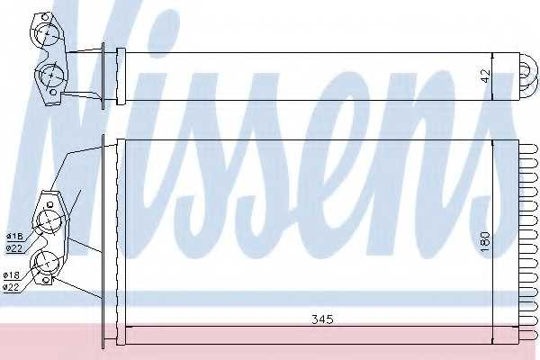 Радиатор отопления салона NISSENS 72036 - изображение