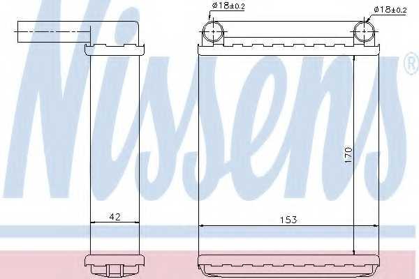 Радиатор отопления салона NISSENS 72038 - изображение