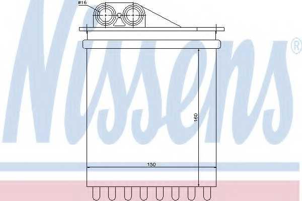 Радиатор отопления салона NISSENS 72040 - изображение