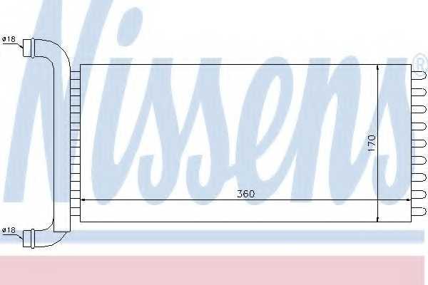 Радиатор отопления салона NISSENS 72041 - изображение