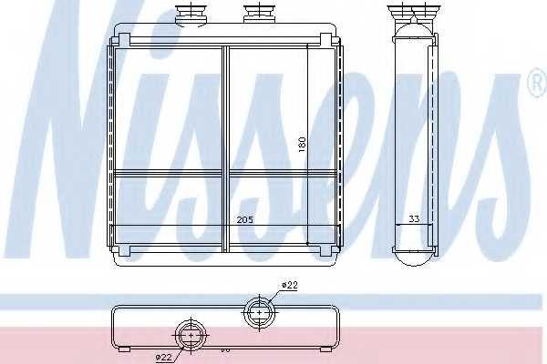 Радиатор отопления салона NISSENS 72042 - изображение