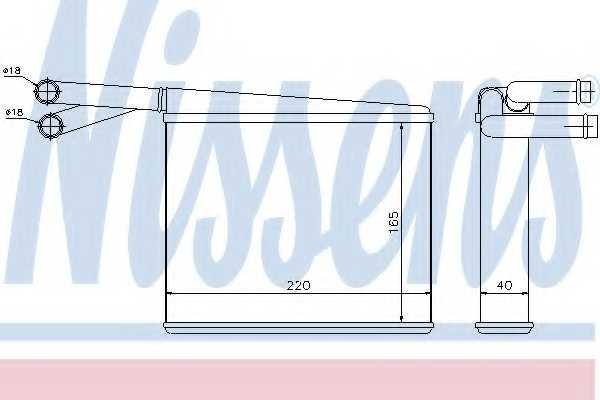 Радиатор отопления салона NISSENS 72043 - изображение