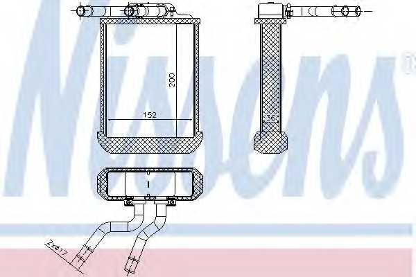 Радиатор отопления салона NISSENS 72045 - изображение