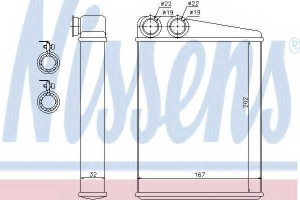 Радиатор отопления салона NISSENS 72046 - изображение
