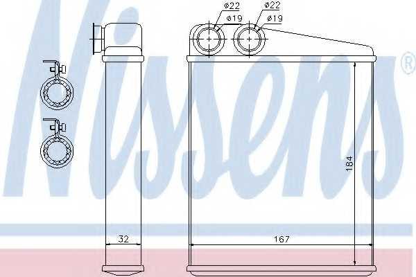 Радиатор отопления салона NISSENS 72047 - изображение
