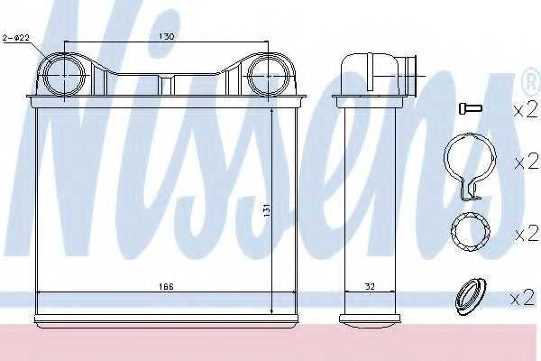 Радиатор отопления салона NISSENS 72049 - изображение