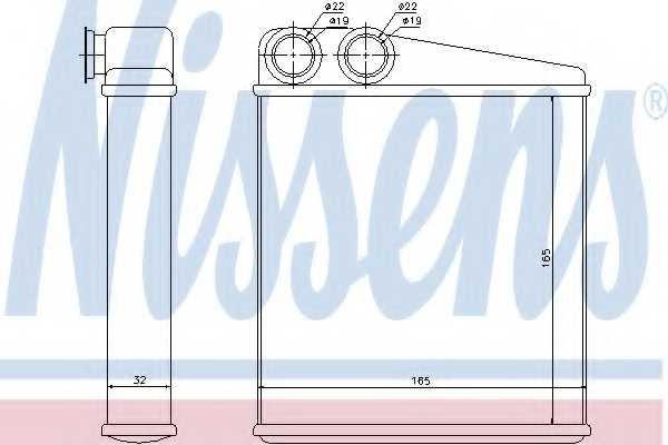 Радиатор отопления салона NISSENS 72206 - изображение