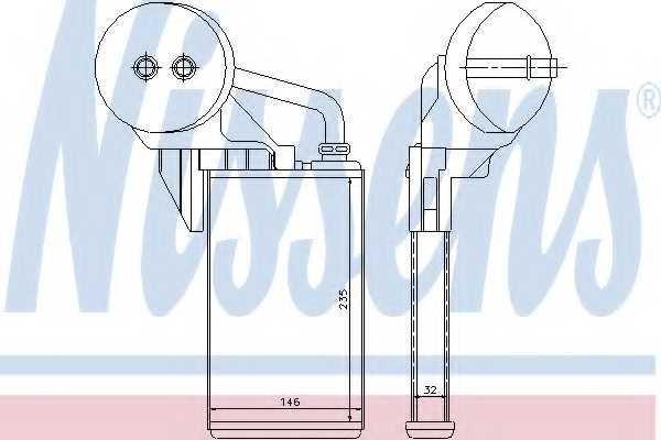 Радиатор отопления салона NISSENS 72207 - изображение