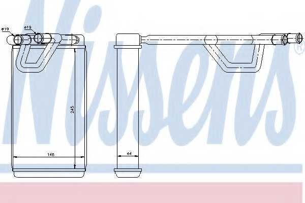 Радиатор отопления салона NISSENS 72209 - изображение