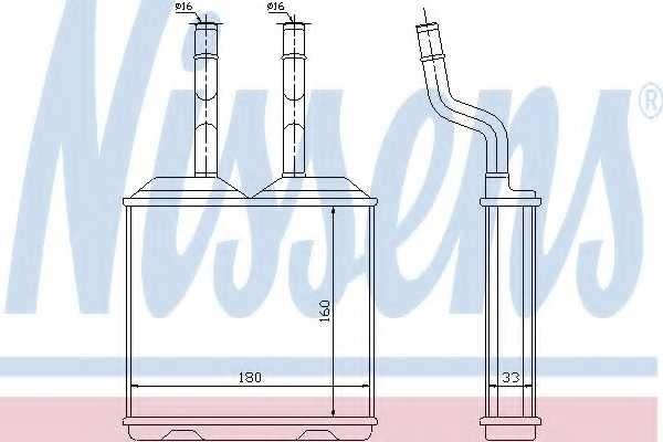 Радиатор отопления салона NISSENS 72634 - изображение