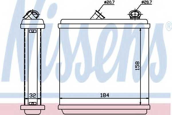 Радиатор отопления салона NISSENS 72635 - изображение