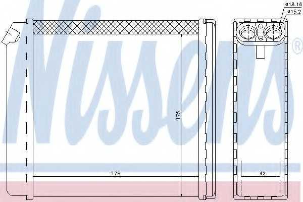 Радиатор отопления салона NISSENS 72636 - изображение