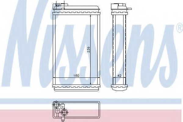 Радиатор отопления салона NISSENS 726461 - изображение