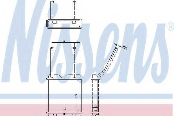 Радиатор отопления салона NISSENS 726531 - изображение