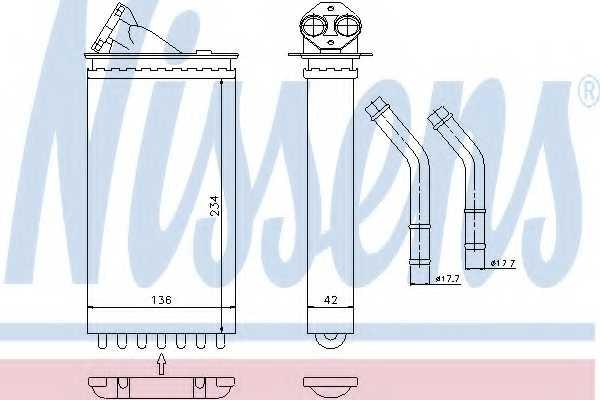Радиатор отопления салона NISSENS 72655 - изображение
