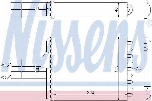 Радиатор отопления салона NISSENS 72656 - изображение