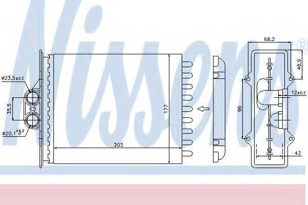 Радиатор отопления салона NISSENS 72657 - изображение