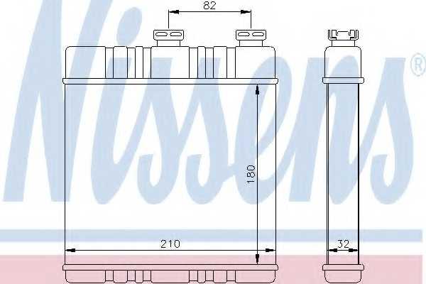 Радиатор отопления салона NISSENS 72660 - изображение