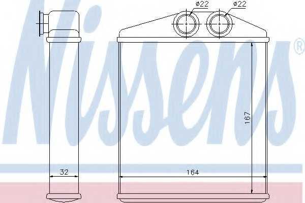 Радиатор отопления салона NISSENS 72661 - изображение