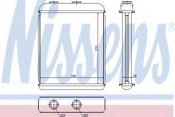 Радиатор отопления салона NISSENS 72662 - изображение