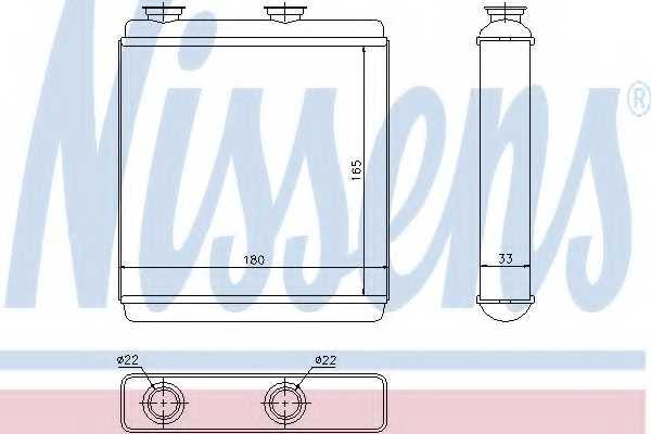 Радиатор отопления салона NISSENS 72663 - изображение