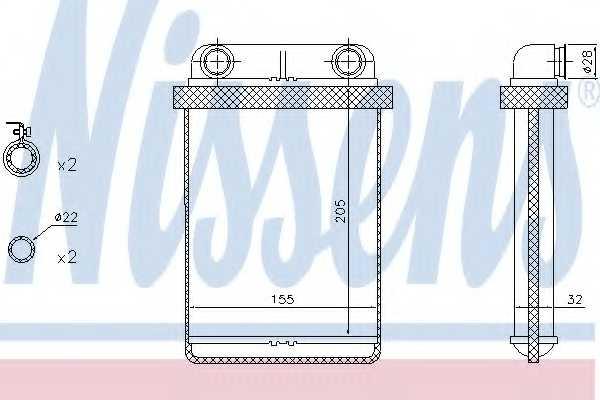 Радиатор отопления салона NISSENS 72671 - изображение