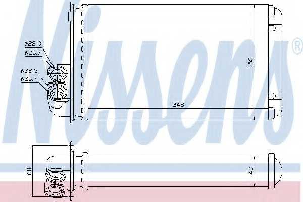 Радиатор отопления салона NISSENS 72936 - изображение