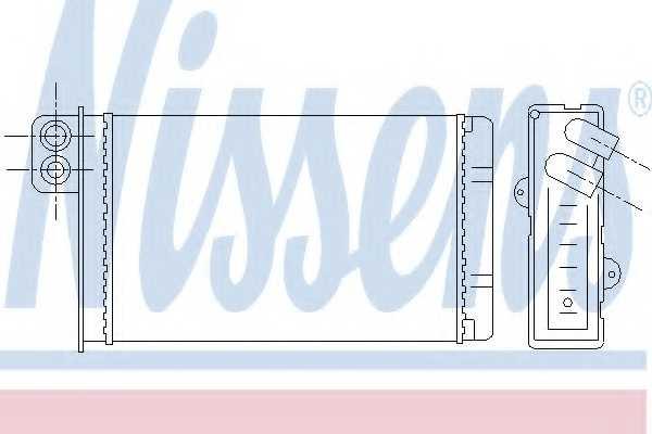 Радиатор отопления салона NISSENS 72937 - изображение