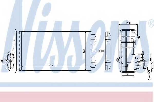 Радиатор отопления салона NISSENS 72941 - изображение