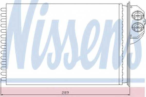 Радиатор отопления салона NISSENS 72943 - изображение