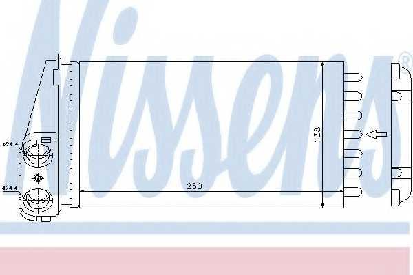 Радиатор отопления салона NISSENS 72945 - изображение