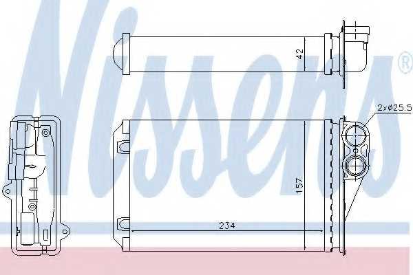 Радиатор отопления салона NISSENS 72946 - изображение
