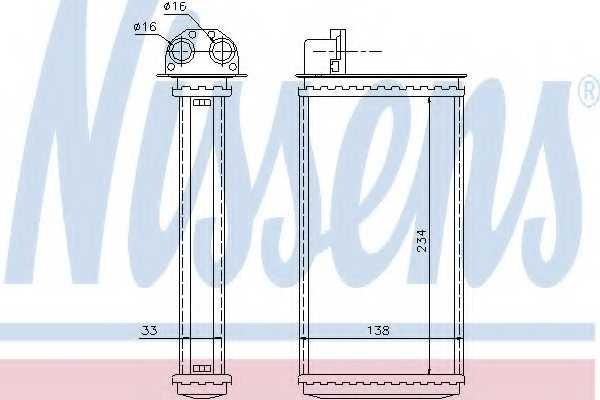 Радиатор отопления салона NISSENS 72981 - изображение