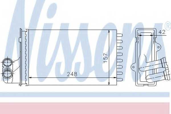 Радиатор отопления салона NISSENS 72984 - изображение