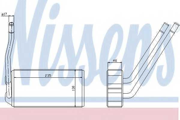 Радиатор отопления салона NISSENS 73000 - изображение