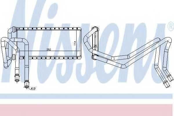 Радиатор отопления салона NISSENS 73002 - изображение